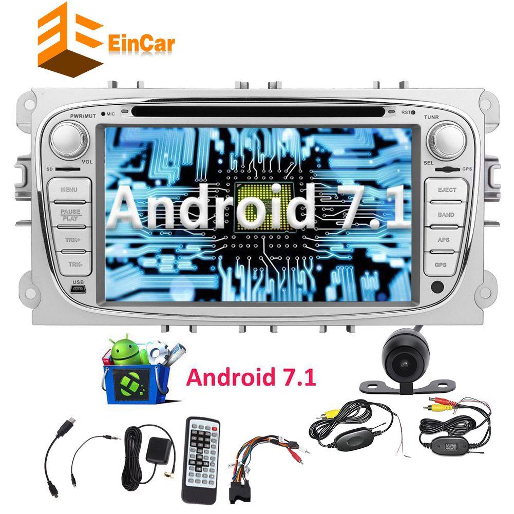 Androïde 7.1 DVD de voiture stéréo Octa Core 7 '' dans le récepteur GPS de radio de tiret de voiture 2GB 32GB pour Ford Bluetooth Headunit