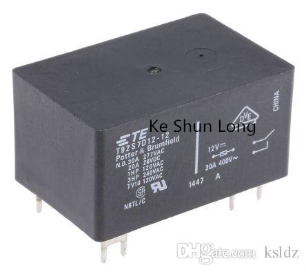Freies verschiffen lot (5 teile / los) 100% Original Neue TE T92S7D12-12 12 V T92S7D12-24 24 V T92S7D12-48 48 V 6 PINS 30A 12VDC 24VDC 48VDC Leistungsrelais