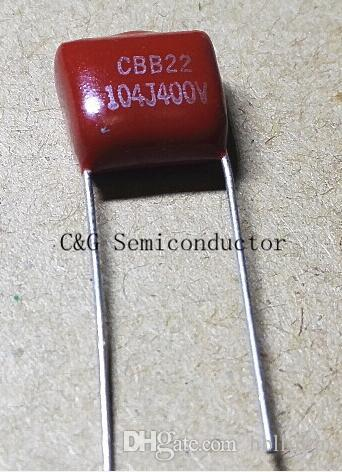 40 sztuk metalizowany kondensator filmowy CBB 104K 104J 400V CL21 0.1UF 100NF 104
