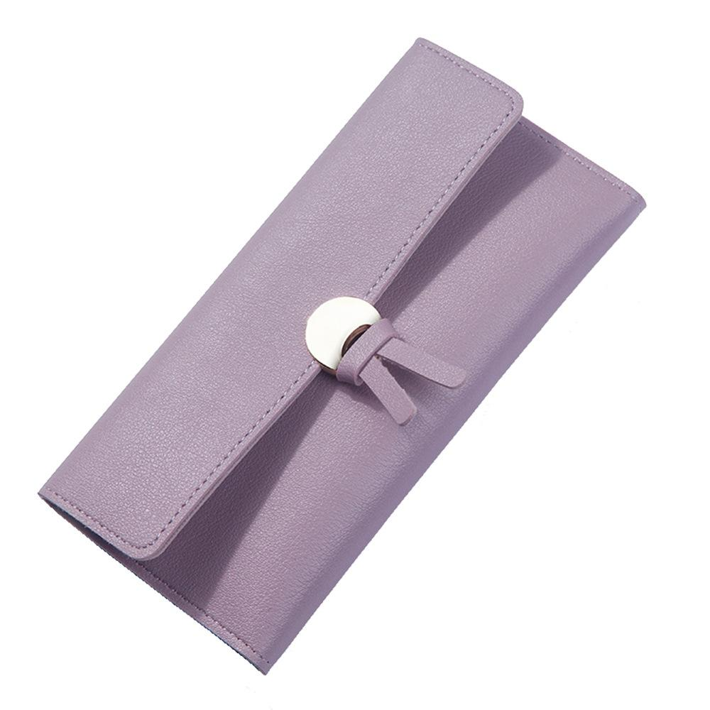 Wallet Women's Long Fashion Three-Fold Multi-Card Holder Large-Capacity Purse Female Clutch Phone Hand Bags with Zipper