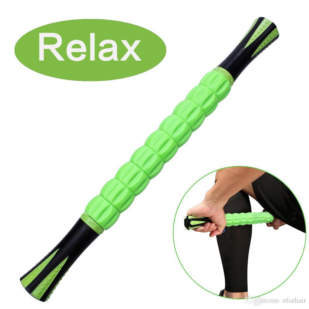 Massaggio del rullo del muscolo del corpo Rilassa il bastone del muscolo del tessuto profondo per i corridori Allenamenti di viaggio Atleti di yoga Sollievo dal dolore