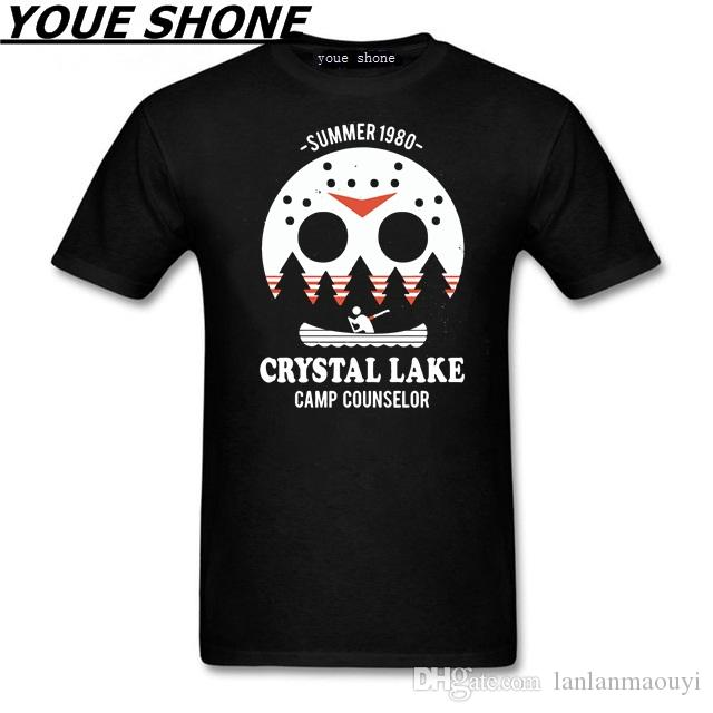 Crystal Lake harajuku Top horror halloween T-shirt Jason freddy Maglietta donna uomo Texas motosega The Massacre Machine Tee pullover cotton