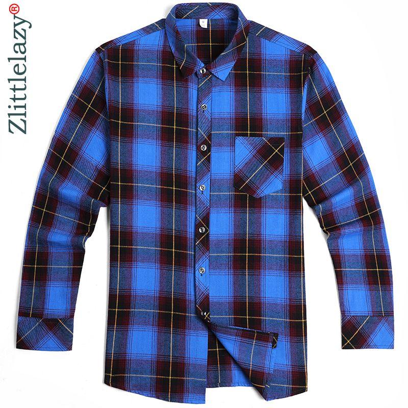 2018 social long sleeve plaid designer shirts men slim fit fashions package men's shirt man dress jersey casual clothing 36744
