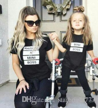 Mother Mum Daughter Kid Family Love Tops Clothing T-shirt Matching Summer Outfit
