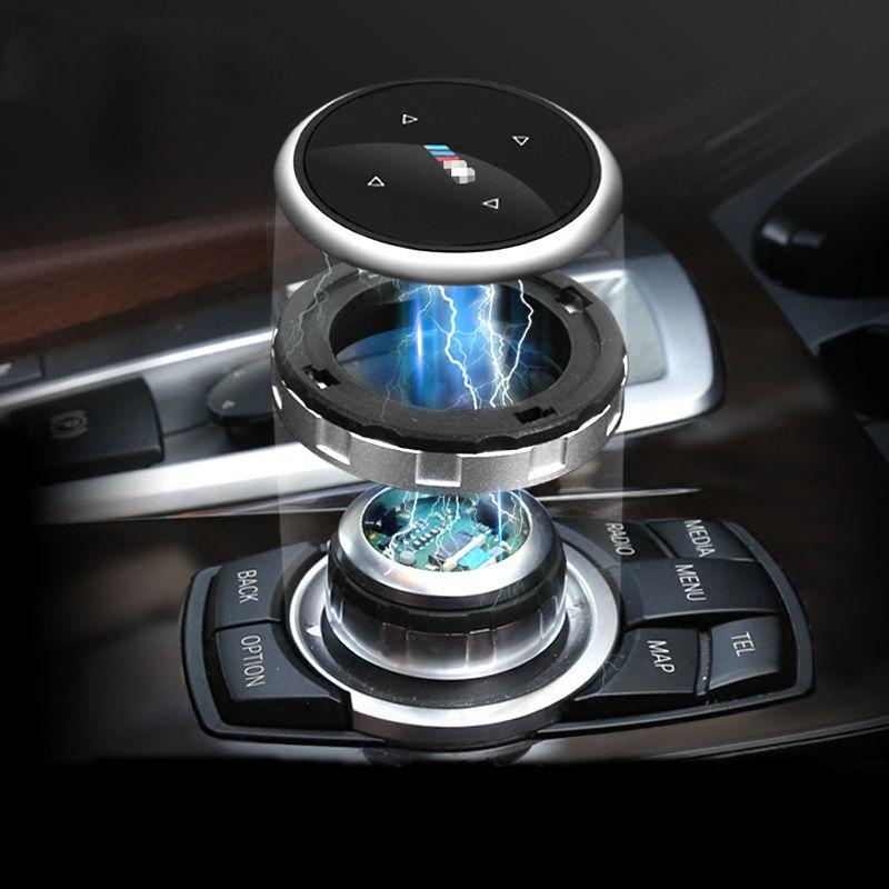 Pulsanti multimediali interni auto Accessori copertura per BMW 1 2 3 4 5 7 Serie X1 X3 X4 X5 X6 F30 E90 E92 F10 F15 F16 F34 F07 F01 E60 E70 E71