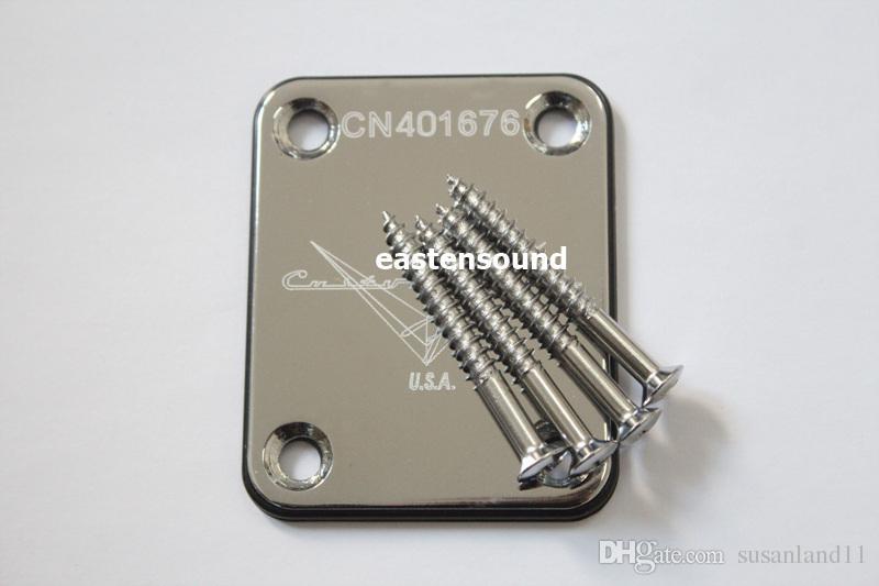 New Chrome Guitar Neck plates custom shop