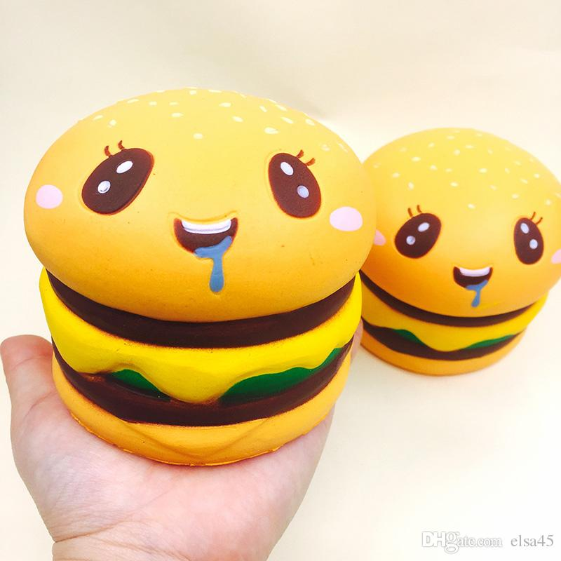2021 Squishies Wholesale Kawaii Rare Squishy Jumbo Cute Hamburger Slow Rising Squishy With Package Kids Gift Soft Squeeze Toys From Elsa45 3 6 Dhgate Com