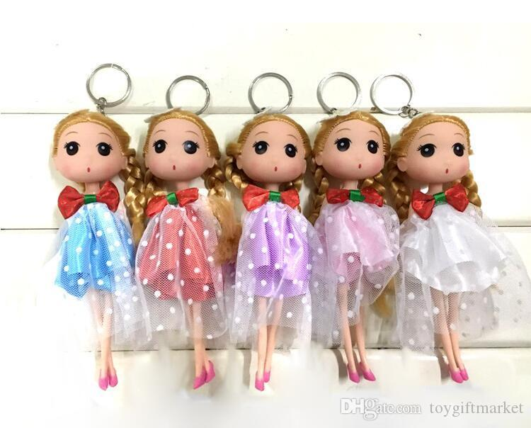 Barbie doll 18cm Korean girl wedding confused doll wedding doll married bride key chain pendant creative gift wholesale