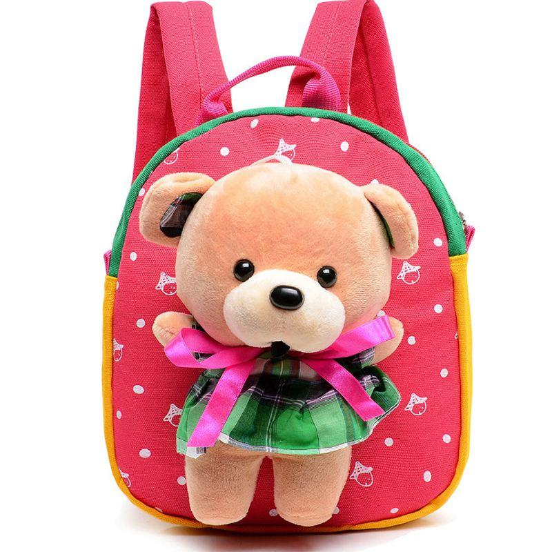 Children's Gifts Kindergarten little dog Backpack Plush Baby Children School Bags For Girls Teenagers Kid Plush Toy Bag mochila