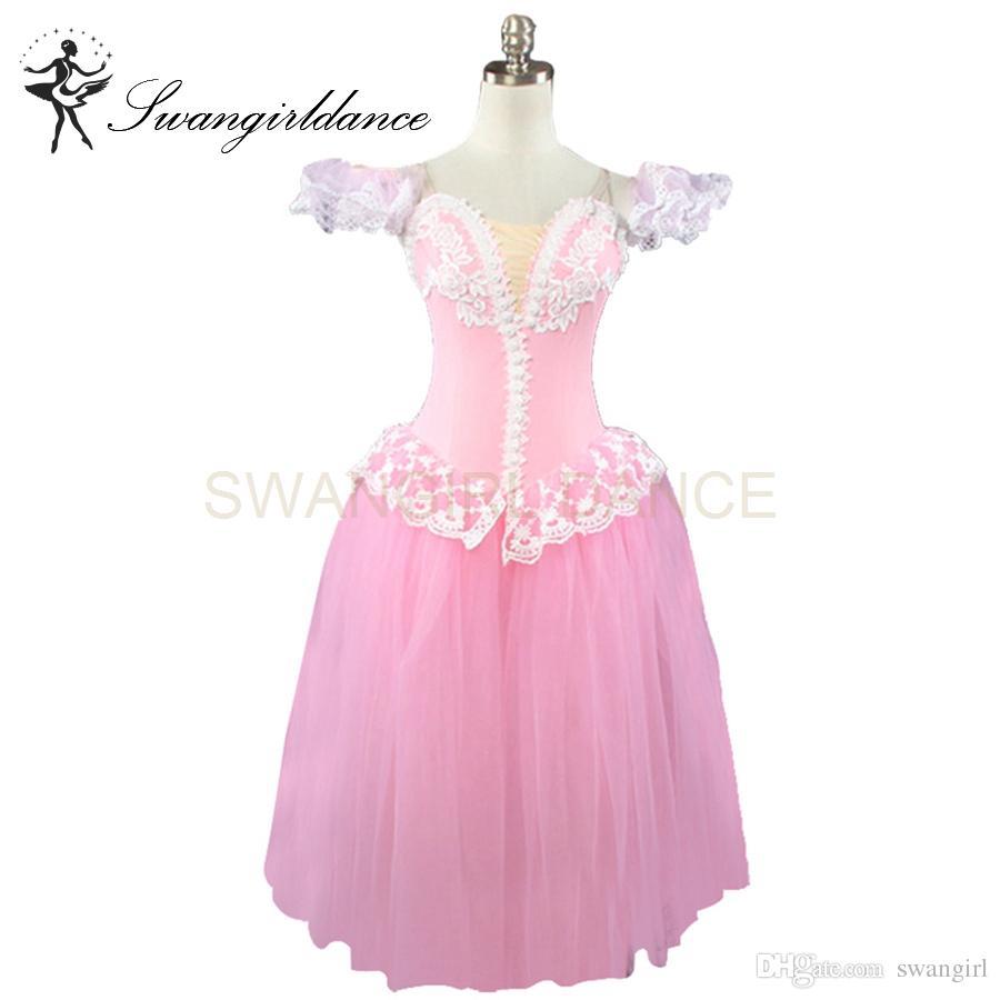 großhandel rosa fee professional ballet lange tutu kleid mädchen frauen  romantische ballett tutu erwachsene damen klassische ballett tanz kostüme