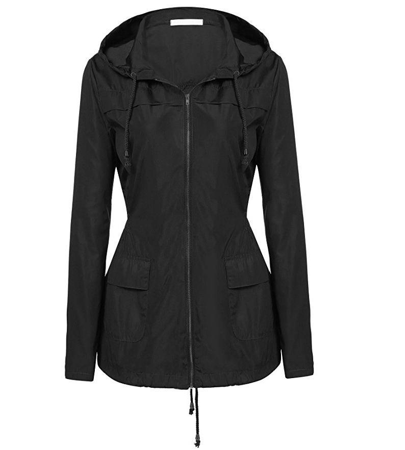 f10499046 Women'S Windbreaker 2018 Spring Jacket Women Long Sleeve Hooded Female  Waterproof Outerwear Oversized Summer Jackets Raincoat Spring Jackets  Leather ...