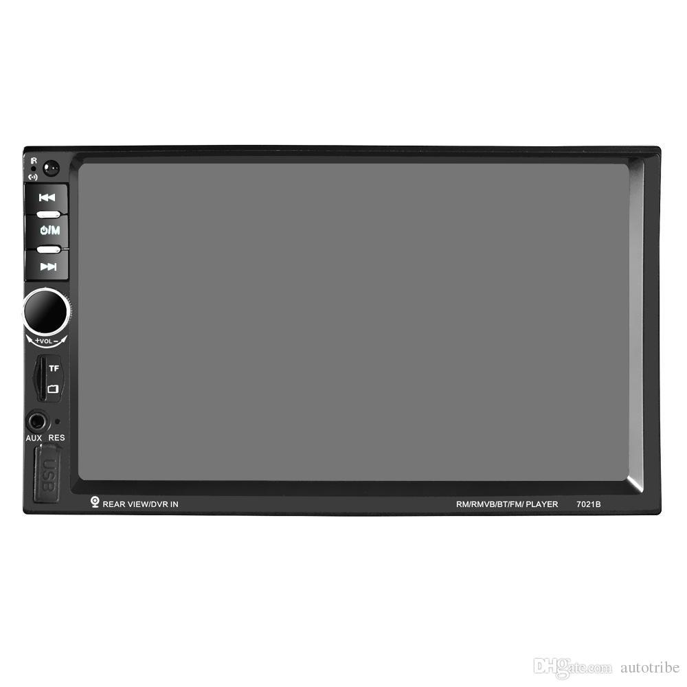 7 pulgadas del coche reproductor de DVD Doble Din 1080 P vista trasera de la pantalla táctil Bluetooth del coche estéreo USB SD Radio Reproductor de audio Soporte FM MP5 USB AUX MP5