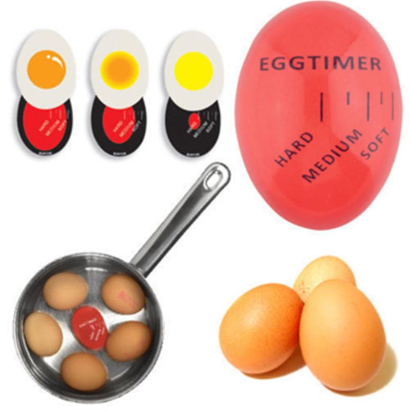 Egg Perfect Color Changing Timer Yummy Soft Hard Boiled Eggs Cooking Kitchen Eco-Friendly Resin Egg Timer Red timer tools
