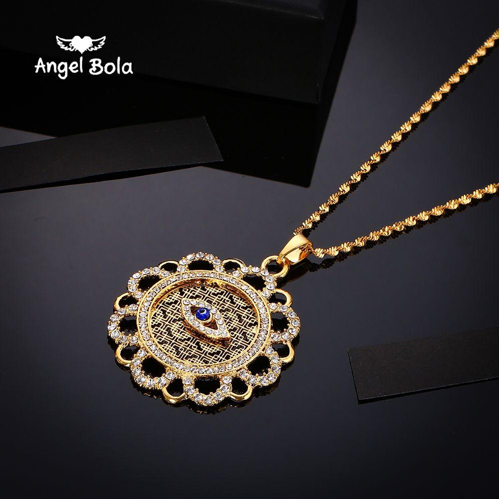 Ожерелье горячие ближневосточные мусульманские Ислам Исламская синий бриллиантовое колье г-жа мужской