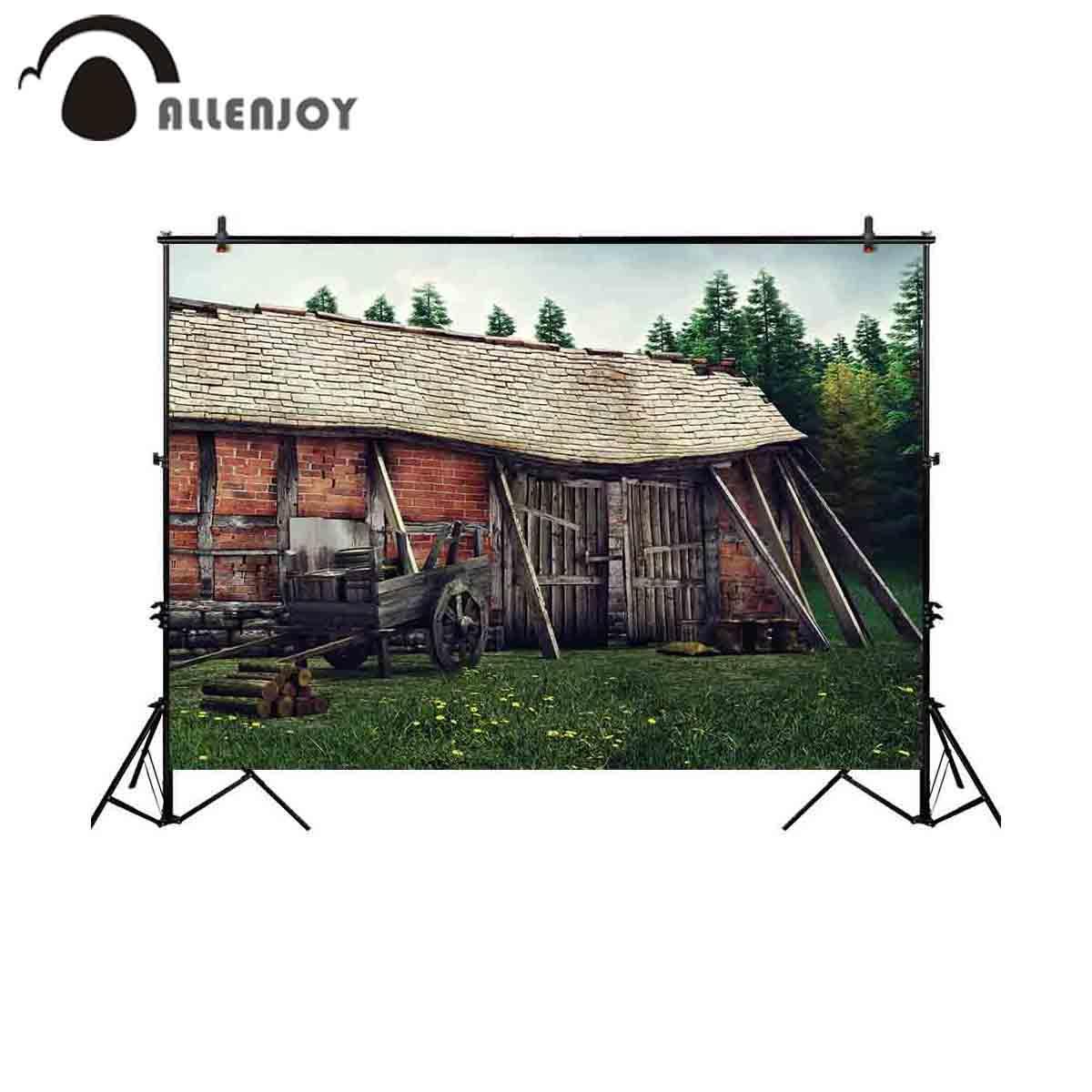 الجملة التصوير خلفية مشهد الريفية القديمة الحظيرة الخشب عربة خلفية صورة المتصل صورة صورة تبادل لاطلاق النار الدعامة photobooth