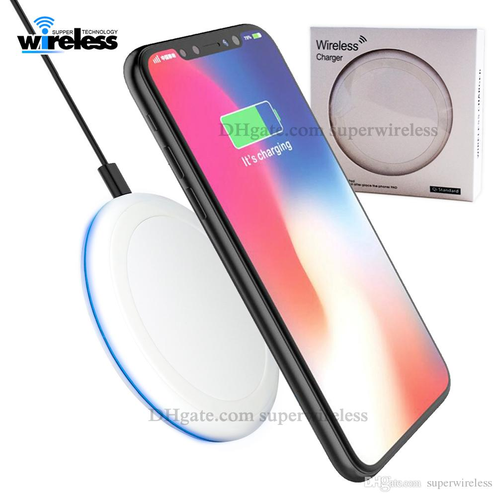Для Ip X XS Max XR беспроводного зарядного устройства Fast Быстрого Й зарядное устройство беспроводного зарядное устройство зарядки колодка подставки для Samsung S9 Примечания-