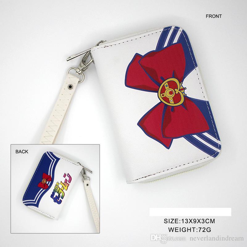 Sailor Moon Anime Zipper Wallet Chibiusa Cartoon Coin Purse Colorful Mini Pocket Bag Mizuno Ami Handbag