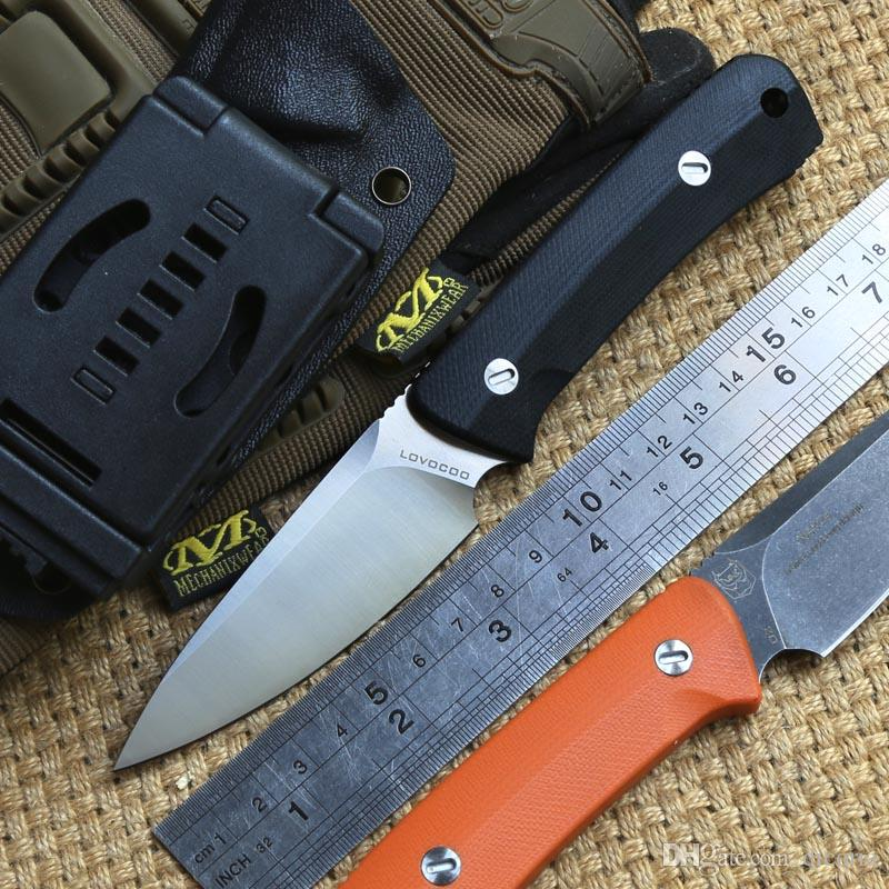 LOVOCOO Nettle fixed blade knife D2 steel G10 handle outdoor gear hunting survival camping Hiking Tactical Combat knives practical edc tools