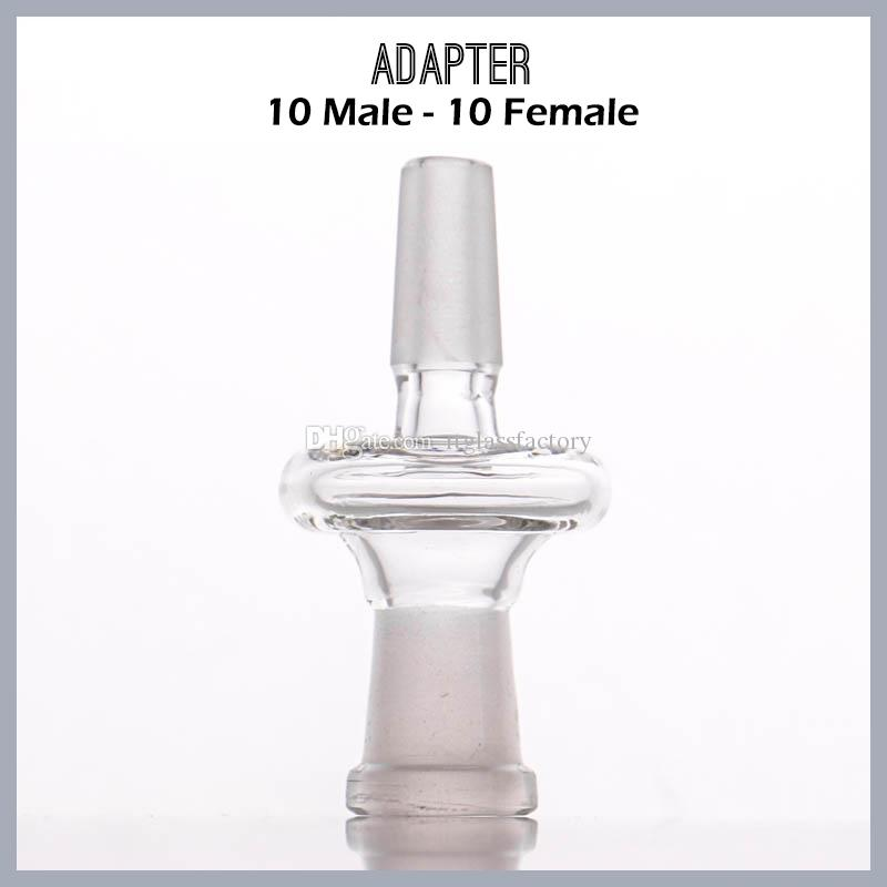 Fabricante de vidrio adaptador 10male a 14female y 14male a 18female convertidor de uso para la plataforma petrolera del tubo de agua envío gratis