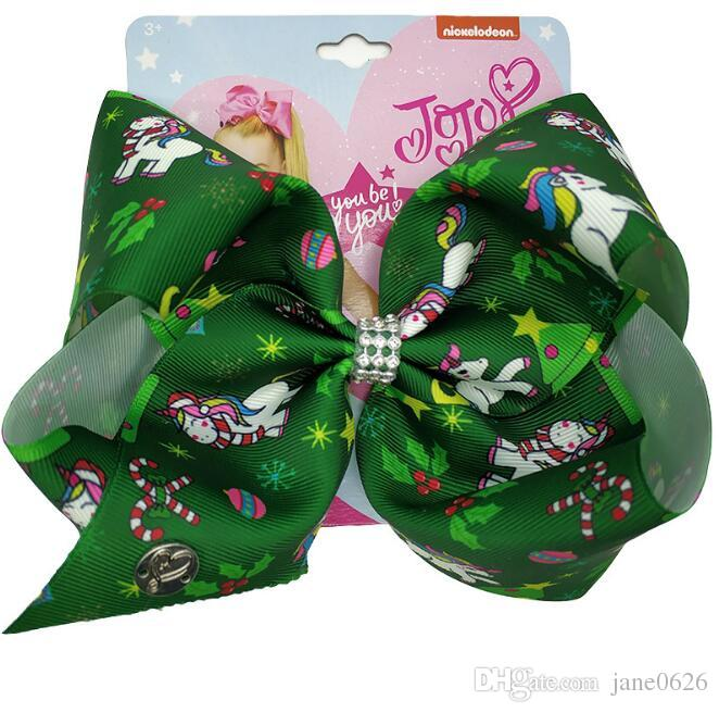 JoJo Siwa Bows 8 INCH Beautiful Hair Accessories Best Xmas Present Stocking Filler for Girls Super Christmas Bow