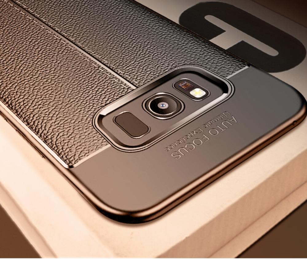 Карбоновый чехол для Samsung Galaxy Note 8 9 S7 S8 S9 Plus Кожаный чехол ТПУ Мягкий чехол для Samsung S8 S7 Edge A3 A5 A7 2017