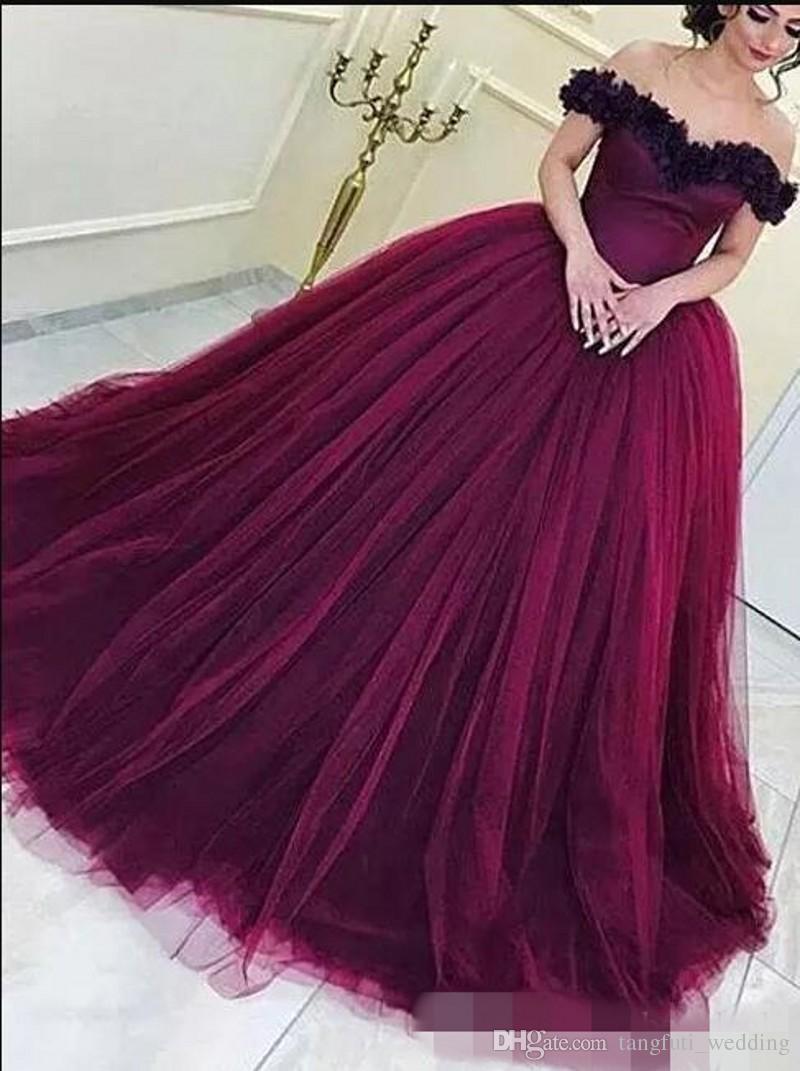 Großhandel Schöne Lila Prom Dresses 11 Ballkleid Lange Tüll Bodenlangen  Sexy Abendkleid Abendkleid Kleider Vestidos De Fiesta Von Tangfuti_wedding,