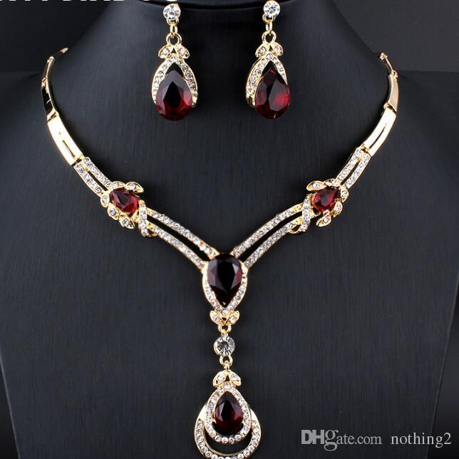 deisgner jewelry sets women Wedding Bridal Accessories Party gold-color Jewelry African  Costume Jewelry Sets hot fashion