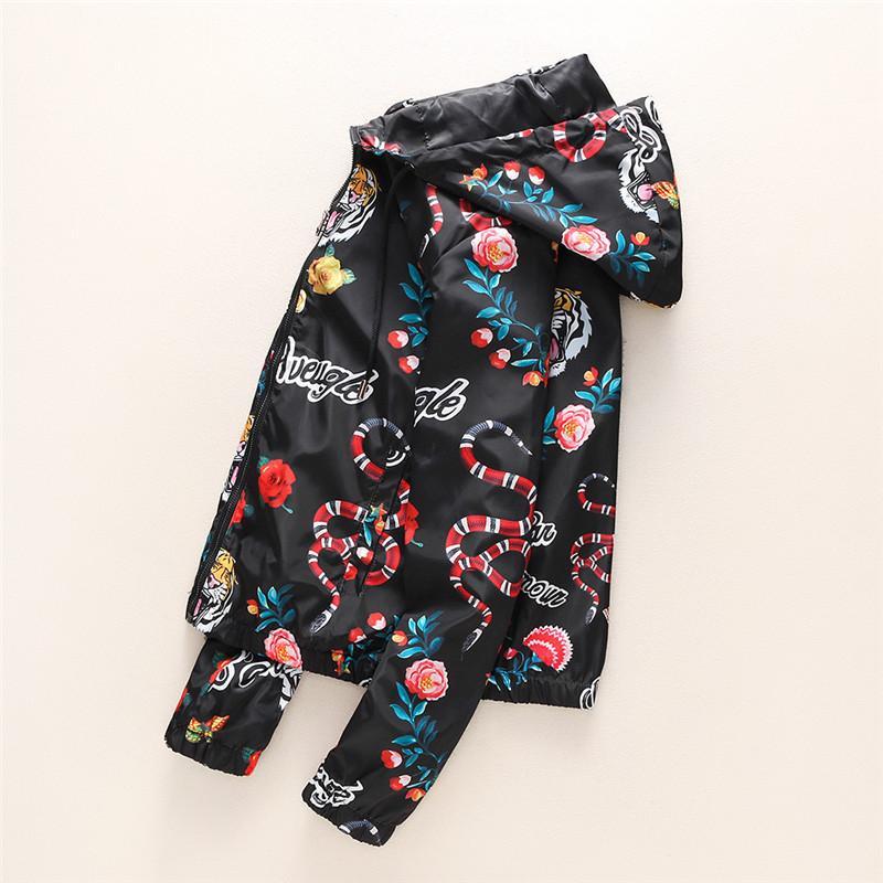 2018 Designer de Moda Jacket Carta Padrão Blusão Jaquetas Longas dos homens Com Capuz Roupas Zipper Plus Size Roupas