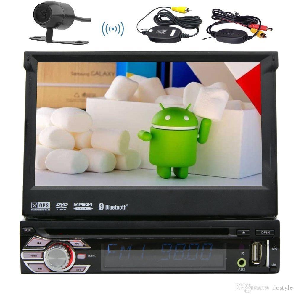 Android 6.0 1Din Auto radio estéreo de pantalla múltiple del coche reproductor de DVD + GPS, BT, RDS, WIFI, pantalla táctil + cámara de visión trasera + control remoto