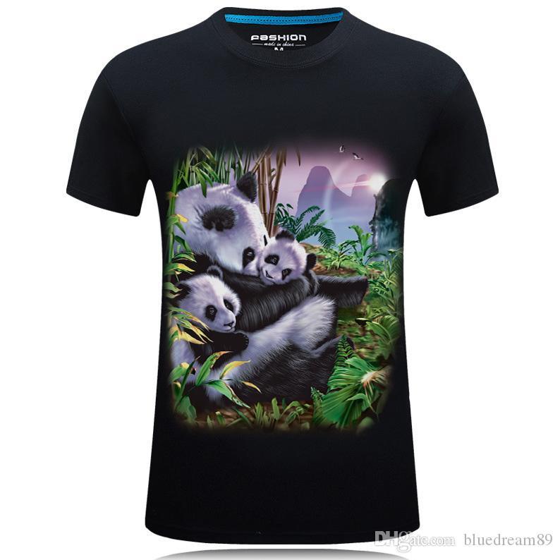 Nueva impresión 3D para hombre diseñador camisetas shorts manga Panda orangután camiseta estéreo dominante personalidad hip hop de lujo camiseta de los hombres