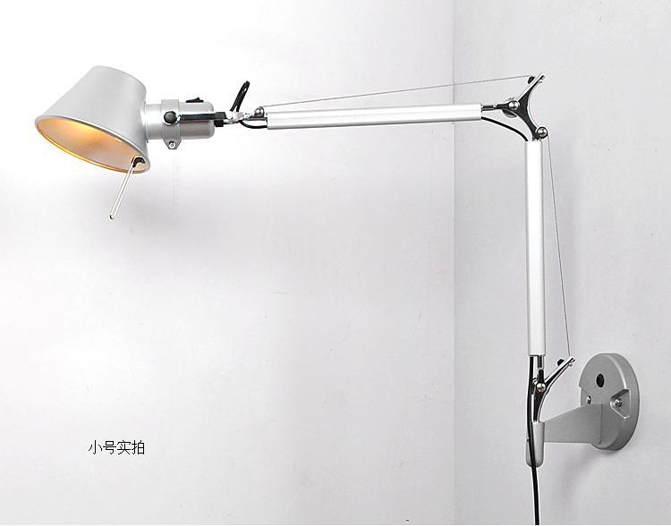 Retro Loft Industrial Do Vintage Levou Lâmpada de Parede luz With47 + 45 cm Longo Braço Arandela Decoração Interior Bar Restaurante Quarto Art Lâmpada