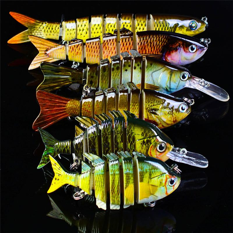 High Realistic Fish Designer Live Target Mullet swimbaits 6 sizes set Mutil-Jointed Lure 6 Segments twitch baits ocean bait