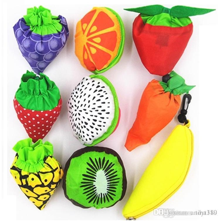 New Fruit folding bags of vegetable bag of environmental protection bags strawberry bag Shopping Bags Storage Bag 4067