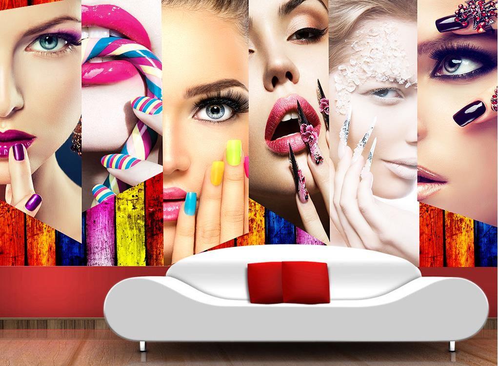 Özel 3d fotoğraf duvar kağıdı makyaj duvarları duvarlar için 3 d oturma odası güzellik salonu kanepe tv zemin 3d duvar kağıdı duvarlar