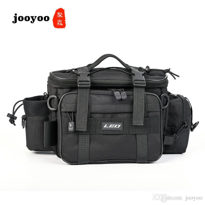 Jooyoo спорта на открытом воздухе многофункциональный большой размер Рыбалка приманки мешок три цвета талии плеча Рыбалка приманки катушки снасти мешок