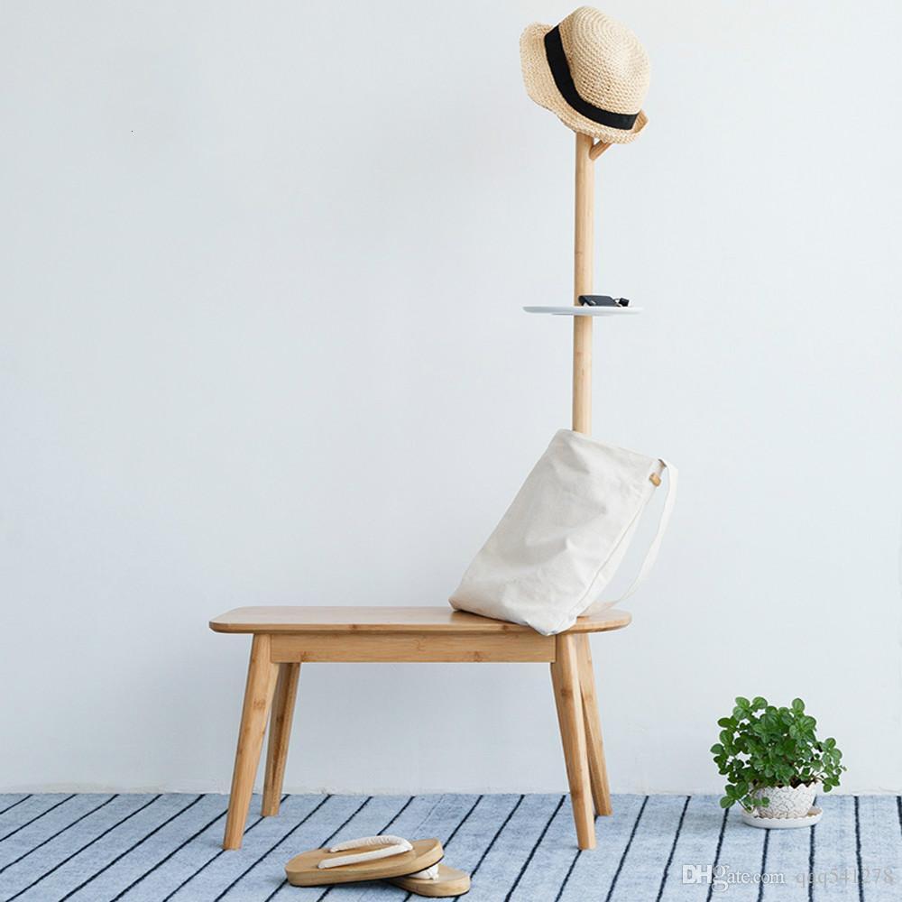 Обуви стул с вешалкой творческий простой Холл дерево ноги стул пальто стенд мебель для спальни ребенка Мебель для дома