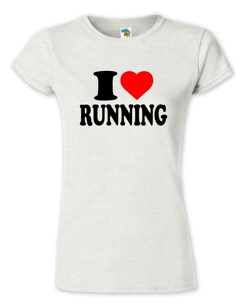I Love Heart Exercising Ladies T-Shirt