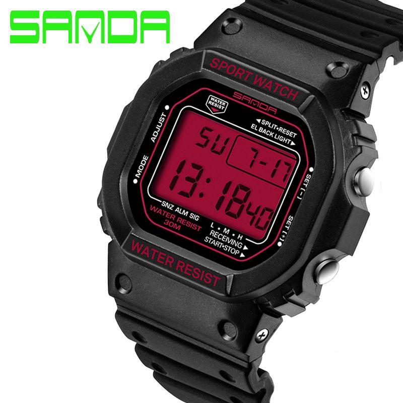 Nagelneue SANDA Art- und Weiseuhr-Männer G-Art-wasserdichte Sport-Militäruhr-Schlag-analoge Quarz-Digitaluhren der Männer