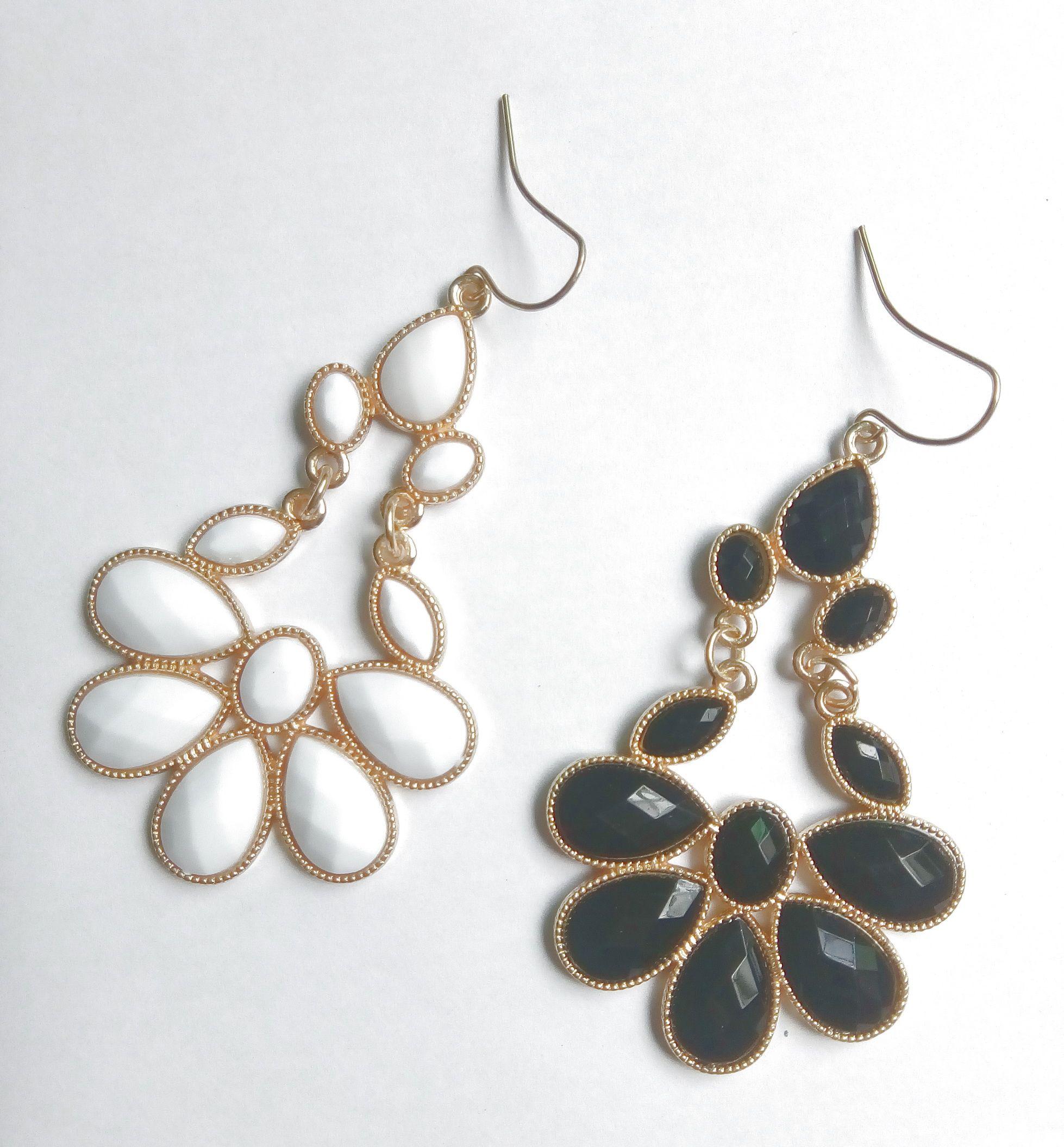 Hot Heart resina lampadario in pietra perle orecchini per le donne pietre sfaccettate orecchini pendenti gancio di pesce gioielli in metallo oro