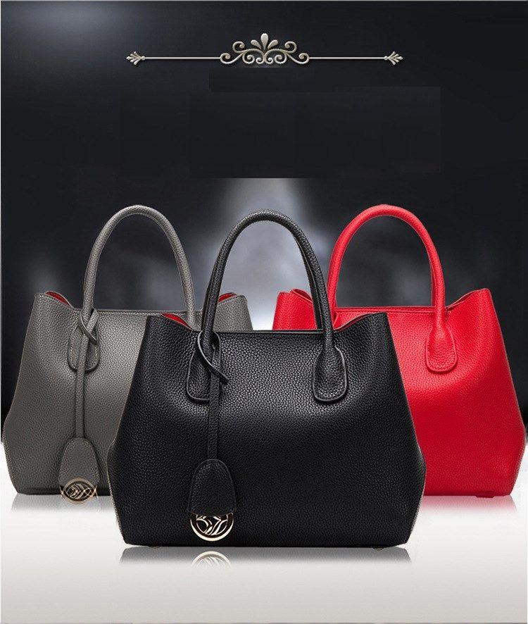 İlk katman inek derisi deri çanta basit kadın Haberci çantası moda vahşi omuz çantası 4 renkler