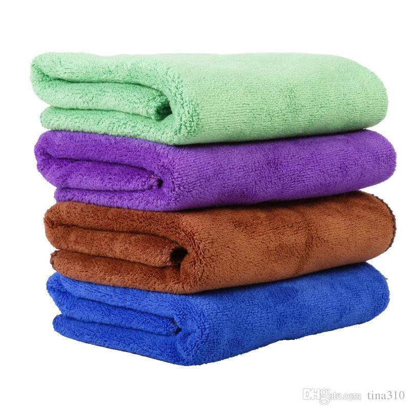40 * 60cm Pet Supplies fibre Dog Tooth Drying Toalhas Moda Toalhas de banho Pet Cleaning Cloth 100 pcs / lot T21107