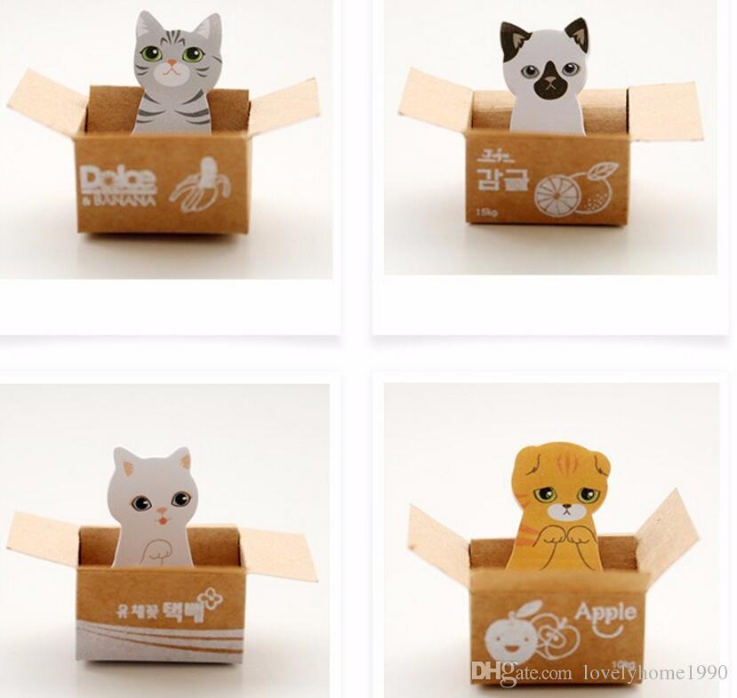 5 Pz / lotto Cartone animato Kawaii Scrapbooking Cat Box adesivi Cute Cancelleria