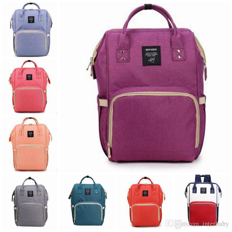 Bolsos de bebé Nappy Backpack Marca Totes Diseñador Viaje Madre al aire libre Mamá Bolsas de enfermería LYM10 Bolsas de Changi Mochilas Maternidad Pañal BKDO