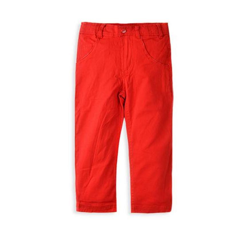 Dzieci Baby Boys Odzież Dżinsy Koreańskie Spodnie Dla Dzieci Spodnie Czerwone Żółte Mid Proste Dorywczo Unisex Solidne Babi Dziewczyny 0-4 lat