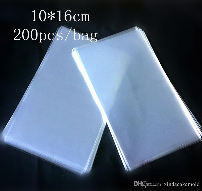 Transparente Kunststoff Big Lollipop Paket Tasche Lebensmittelqualität Opp Popsicle Paket Beutel Eis Kuchen Schokolade Backpack 10 * 16 cm 200 teile / los