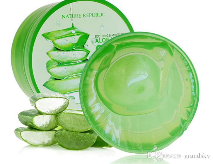 NUOVA REPUBBLICA NUOVA Umidità Soothing Aloe Vera 92% Gel (300ml) 10.56 oncia fluido dopo la riparazione del sole Aloe Vera Gel sbiancante anti-invecchiamento