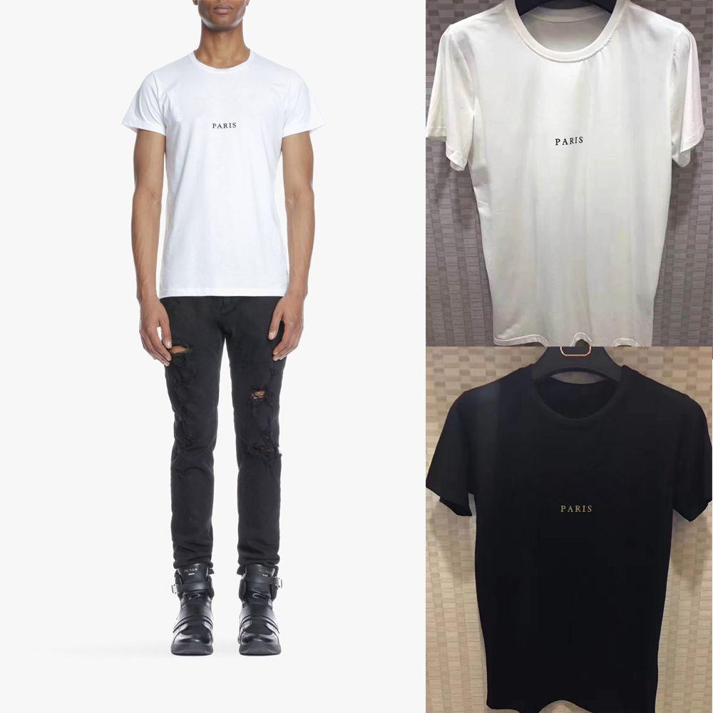 Nova Moda T Shirt Dos Homens de Verão de Algodão carta Imprimir Tops Slim Fit Tees de Alta Qualidade Plus Size Mens Roupas 180280