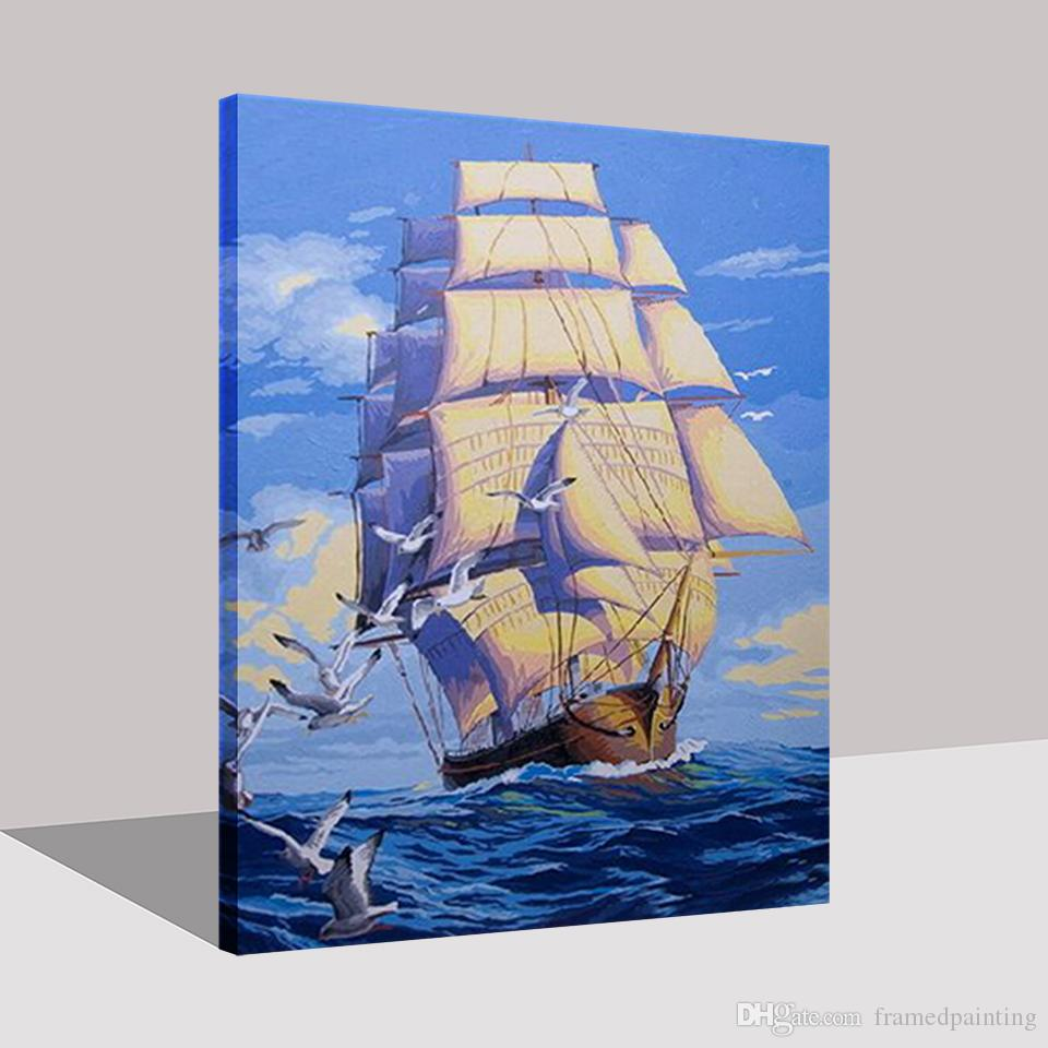 Compre Pintura Al óleo De Diy Por Números Kits Para Colorear Pintado A Mano Liso Vela Aceite Fotos Regalos únicos Decoración Para El Hogar Sala De