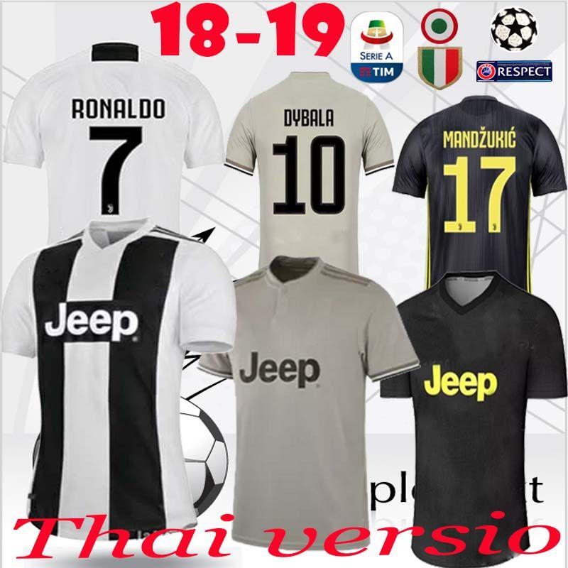 newest c5aa8 ed375 2018 2018 2019 Home Away 3rd Soccer Jersey Juventus #7 Ronaldo #10 Dybala  Soccer Shirt Marchisio Mandzukic Pjanic Higuain 18 19 Football Shirt From  ...