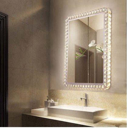 Compre Espelho De Banheiro De Cristal Led Lâmpada De Parede Círculo Espelho De Parede Com Luz Banheiro Maquiagem Espelho Lâmpada Llfa De Volvo Dh2010